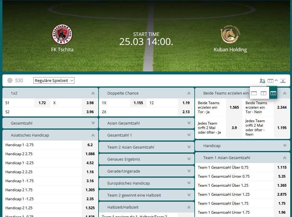 Fußball Klub-Freundschaftsspiele FK Tschita - Kuban Holding